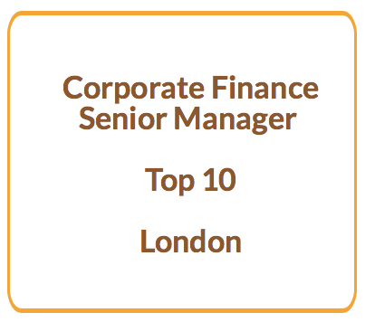 Corporate Finance Senior Manager at Top 10 firm London